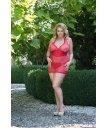 Сорочка и стринги SoftLine Lucy красная