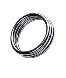 Тройное металлическое кольцо на пенис ToyFa Metal размер M