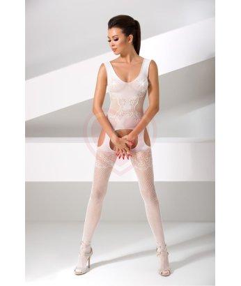 Костюм-сетка с имитацией топа Passion Erotic Line белый
