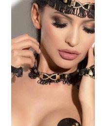 Чокер Me Seduce Queen of Hearts Arabesque чёрный