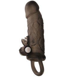 Вибронасадка на пенис с клиторальной стимуляцией ToyFa Xlover 14 см черная