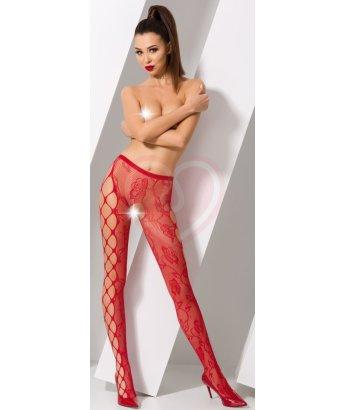 Колготки с крупной сеткой Passion Erotic Line красные