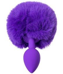Анальная пробка с хвостом ToDo Sweet bunny фиолетовый