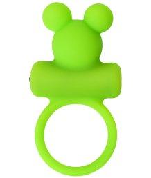 Эрекционное кольцо с вибропулей ToyFa A-Toys зеленое