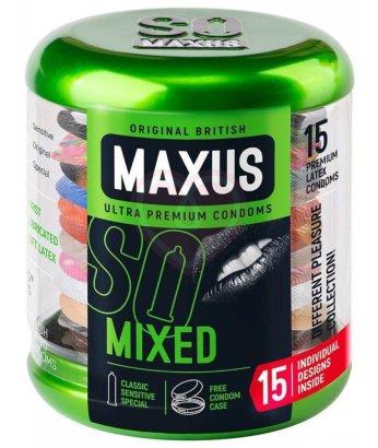 Набор презервативов Maxus Mixed упаковка с кейсом 15 шт