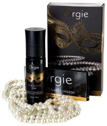 Силиконовое масло и жемчужное ожерелье для массажа Orgie Pearls Lust Massage