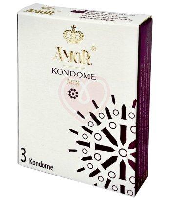 Набор из разных презервативов Amor Mix 3 шт