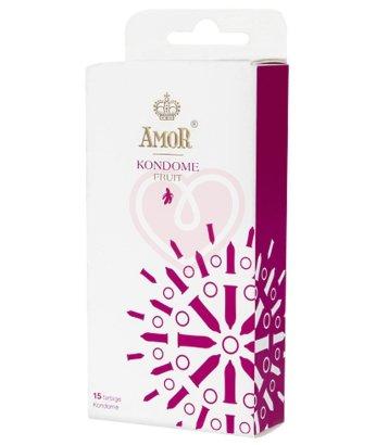 Цветные ароматизированные презервативы Amor Fruit 15 шт