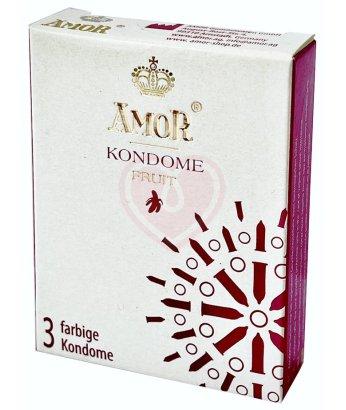 Цветные ароматизированные презервативы Amor Fruit 3 шт