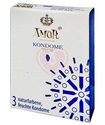 Сверхтонкие презервативы Amor Thin 3 шт