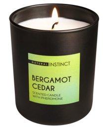 Свеча ароматическая с феромонами Natural Instinct Кедр и Бергамот 180 гр