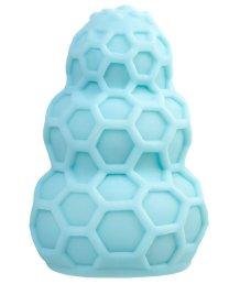 Рельефный мини-мастурбатор A-Toys Flaff 8 см бирюзовый