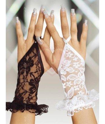 Перчатки короткие кружевные Soft Line белые