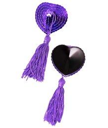Пэстисы с пайетками и кисточками фиолетовые
