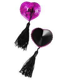 Пэстисы с розовыми пайетками и чёрными кисточками