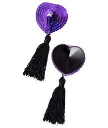 Пэстисы с фиолетовыми пайетками и чёрными кисточками