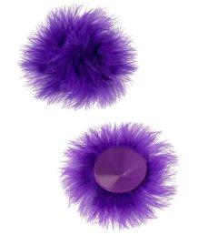 Пэстисы с пухом фиолетовые