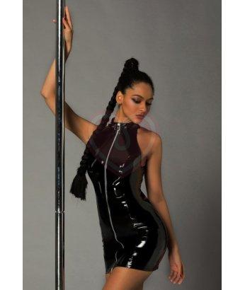 Строгое лаковое платье на молнии и стринги Candy Girl Ariana