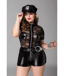 Костюм дерзкой полицейской с фуражкой и наручниками