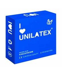 Презервативы Unilatex Natural Plain классические 3шт