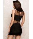 Платье с закрытыми плечиками черное