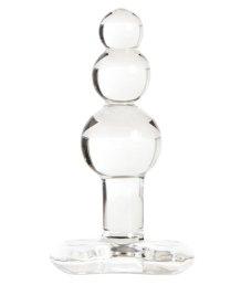 Стеклянная рельефная анальная пробка Sexus Glass Crazy Balls