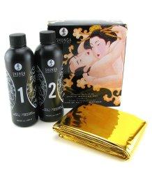 Набор массажных гелей 2в1 для скользкого секса Shunga Дыня и манго 2х250мл