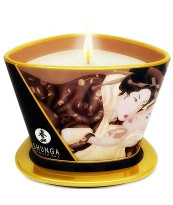 Массажное аромамасло в виде свечи Shunga Excitation Chocolate Шоколад 170мл