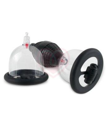 Вакуумные помпы для сосков с вибрацией Vibrating Nipple Pleasure Cups