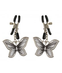 Зажимы на соски с подвесками в виде бабочек Butterfly Nipple Clamps