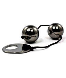 Тяжелые металлические вагинальные шарики Domino серые
