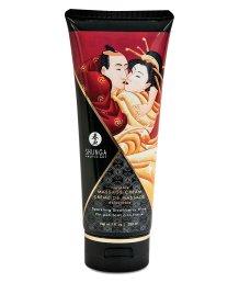 Массажный крем для тела Shunga Необыкновенные поцелуи Клубника и шампанское 200мл