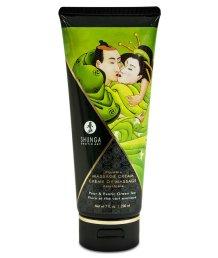 Съедобный массажный крем Shunga Необыкновенные поцелуи Груша и Зеленый чай 200мл