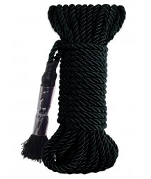 Веревка для фиксации Deluxe Silky Rope 9,75м чёрная