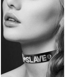 Чокер Bijoux Pour Toi с надписью Slave чёрный