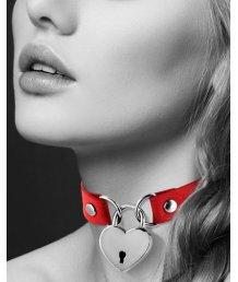 Чокер с замком сердце Bijoux Pour Toi красный