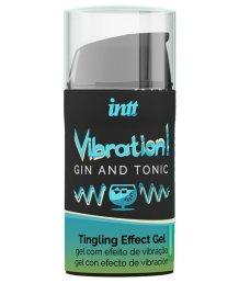 Стимулирующий гель со вкусом джина и тоника Intt Vibration! Gin & Tonic 15 мл