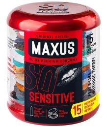Презервативы ультратонкие Maxus Sensitive упаковка с кейсом 15 шт