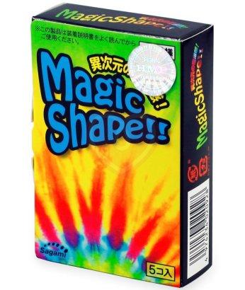 Плотнооблегающие презервативы Sagami Magic Shape 5шт