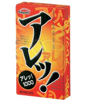Утолщенные рельефные презервативы Sagami Super Dots One Stage 10 шт
