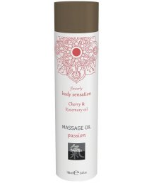 Массажное масло Shiatsu Massage Oil Passion Вишня и розмарин 100 мл