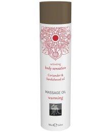 Массажное масло Shiatsu Massage Oil Warming Кориандр и сандал 100 мл