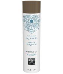 Массажное масло Shiatsu Massage Oil Masculine Амбра и эвкалипт 100 мл