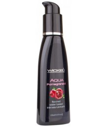 Оральный лубрикант Wicked Aqua Pomegranate со вкусом граната 120мл