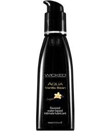 Оральный лубрикант Wicked Aqua Vanilla Bean со вкусом ванильных бобов 60 мл