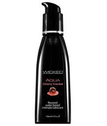 Оральный лубрикант Wicked Aqua Cherry Cordial со вкусом вишневого ликера 120 мл