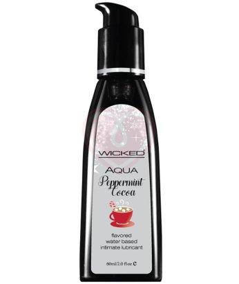 Оральный лубрикант Wicked Aqua Peppermint Cocoa со вкусом мятного какао 60 мл