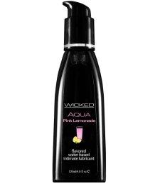 Оральный лубрикант Wicked Aqua Pink Lemonade со вкусом розового лимонада 120 мл