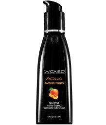 Оральный лубрикант Wicked Aqua Sweet Peach со вкусом персика 60 мл
