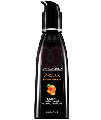Оральный лубрикант Wicked Aqua Sweet Peach со вкусом сочного персика 60 мл